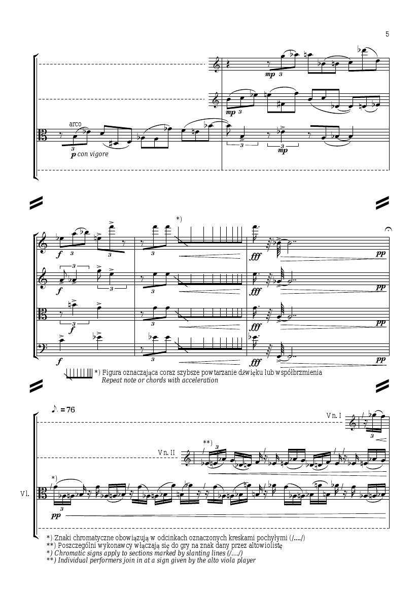 Wojciech Lukaszewski <cite>Composition for string quartet</cite>